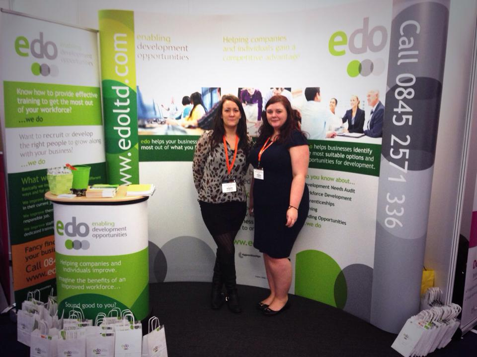 The edo girls on stand at the Recruitment Agency Expo London