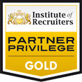 Institute of Recruiters Gold Partner Privilege logo